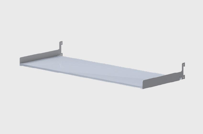 ABS Group - Parete attrezzata mensola contenitiva in vetro