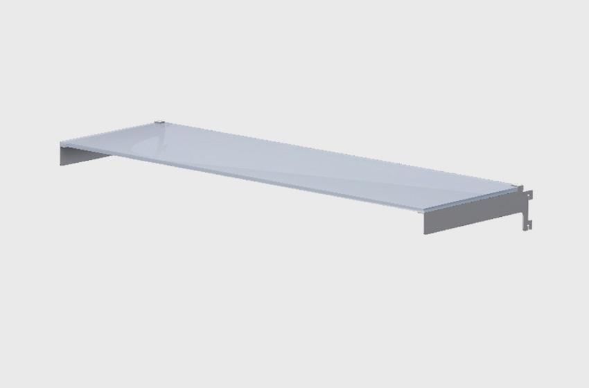 ABS Group - Parete attrezzata mensola in vetro