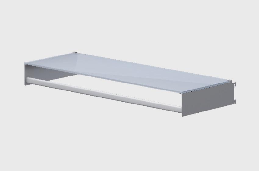 ABS Group - Parete attrezzata mensola in vetro con appendiabiti