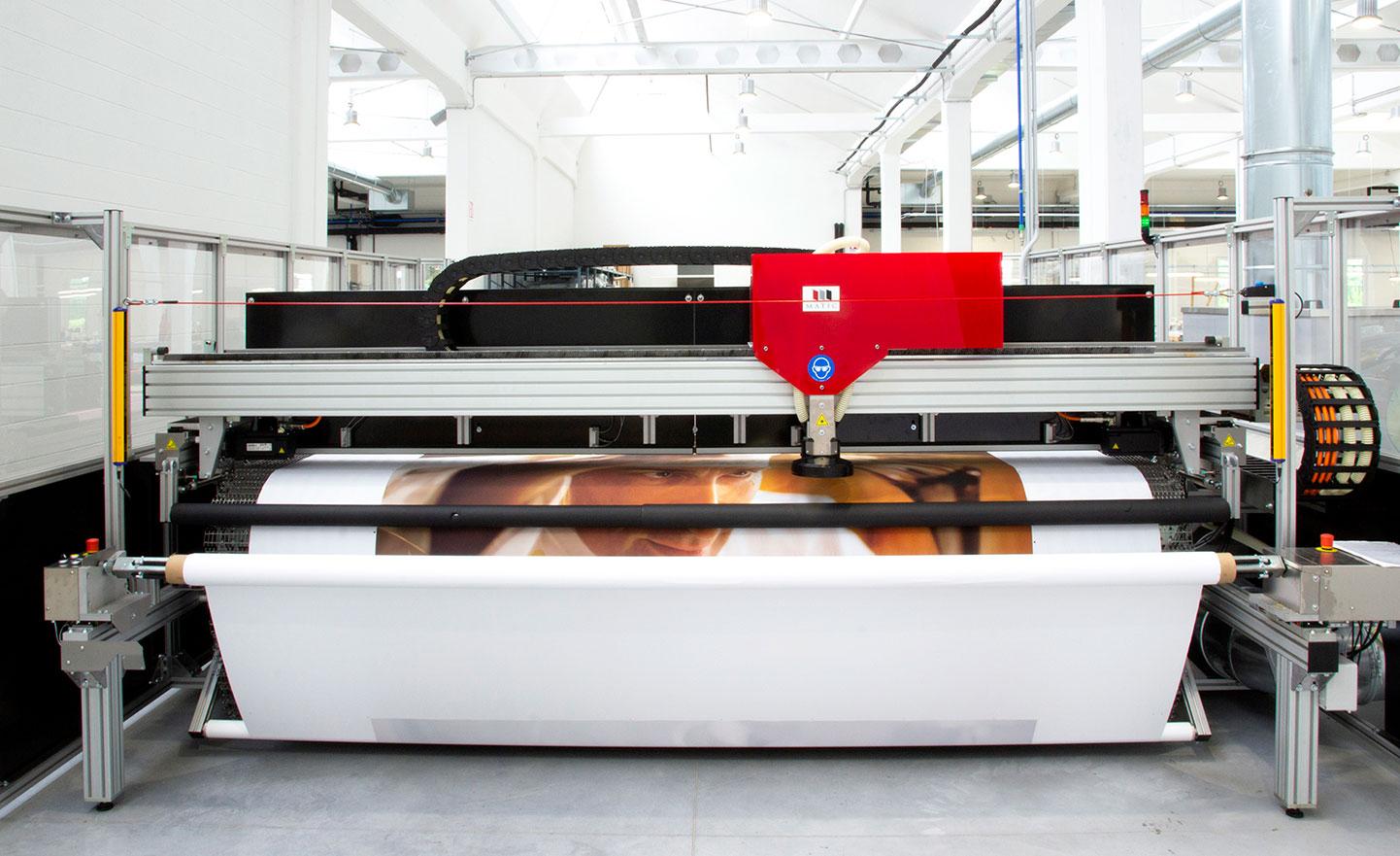 Produzioni extra large e stampa fino a 800 mq l'ora